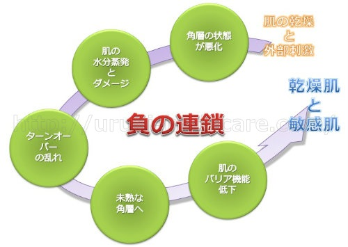 肌のバリア機能低下 負の連鎖