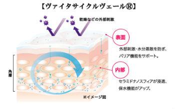 化粧水で肌がピリピリとしみるのを防ぐヴァイタサイクルヴェール